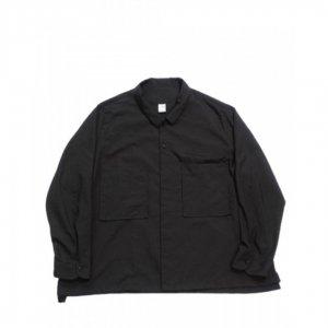 NO CONTROL AIR【ノーコントロールエアー】シュリンクポリエステルブロードシャツジャケット【BLACK】