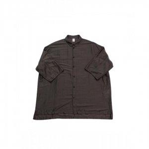 NO CONTROL AIR【ノーコントロールエアー】 リヨセルカールマイヤーオーバーサイズs/sシャツ【CHARCOAL×RED】