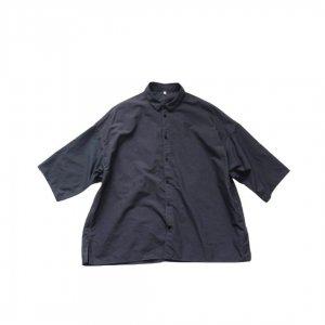 FIRMUM【フィルマム】ナイロンタッサーガーメントダイワイドシャツ【BLUE GREY】