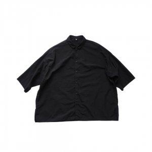 FIRMUM【フィルマム】ナイロンタッサーガーメントダイワイドシャツ【BLACK】