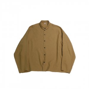FIRMUM【フィルマム】スラブトリアセテートワイドシャツ【YELLOW OCHER】