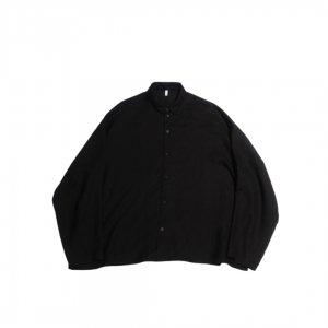 FIRMUM【フィルマム】スラブトリアセテートワイドシャツ【BLACK】