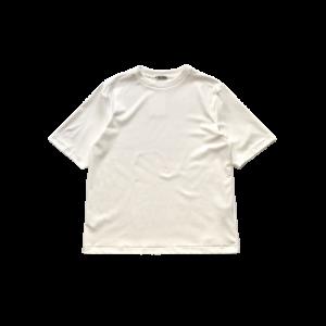 LAMOND【ラモンド】 SUVIN COTTON 5部袖T-SHIRT【WHITE】
