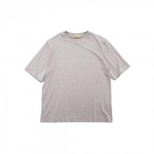 LAMOND【ラモンド】 SUVIN COTTON 5部袖T-SHIRT【GREY】