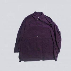 FIRMUM【フィルマム】ナイロンタッサーガーメントダイステンカラーシャツブルゾン【PLUM PURPLE】