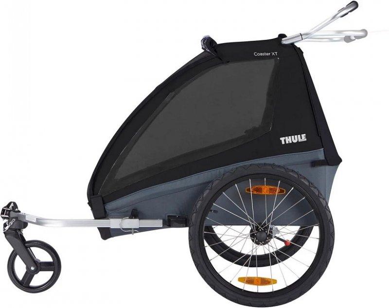 【10月入荷】スーリー・コースター・XT<THULE COASTER XT>チャイルドトレーラー 1歳から7歳くらい 年子・双子対応 115cmくらい 積載45kg LEDライト付  ベビーカー前輪付【画像2】