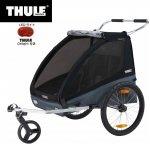 THULE <スーリー>  【10月入荷】スーリー・コースター・XT<THULE COASTER XT>チャイルドトレーラー 1歳から7歳くらい 年子・双子対応 115cmくらい 積載45kg LEDライト付  ベビーカー前輪付