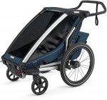 チャイルドトレーラー  【即納】チャリオット・クロス1<Thule Chariot Cross1> チャイルドトレーラー 自転車用ベビーカー サイクルトレーラー  1人乗り 持ち運び 丈夫 雨 全天候 色:Majo-Blue