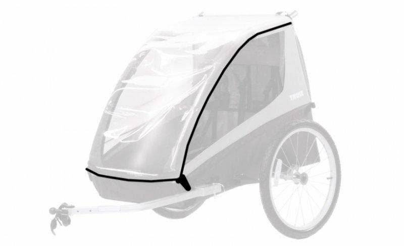 【10月入荷】コースター・XT<Thule Coaster XT>防水カバー付雨天対応 チャイルドトレーラー お子様1歳から7歳 二人乗り 身長115cm 積載45kg LEDライト 前輪付属 【画像2】