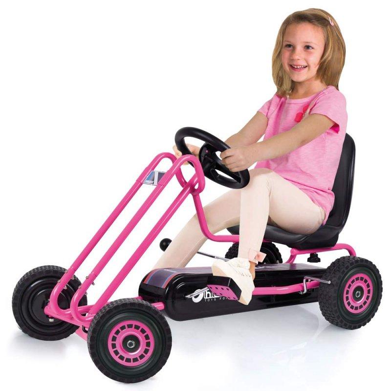【即納】ドイツの名門ハウク・ペダル・ゴーカート<Hauck Lightning Pedal Go Kart> 速走・機敏操作 頑丈フレーム しっかりグリップ 欧米のベストセラー  カラー:ピンク