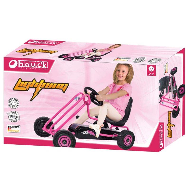 【即納】ドイツの名門ハウク・ペダル・ゴーカート<Hauck Lightning Pedal Go Kart> 速走・機敏操作 頑丈フレーム しっかりグリップ 欧米のベストセラー  カラー:ピンク【画像3】