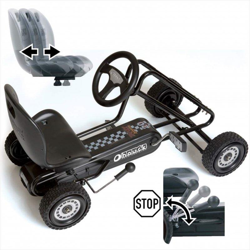【即納】ドイツの名門ハウク・ペダル・ゴーカート<Hauck Lightning Pedal Go Kart> 速走・機敏操作 頑丈フレーム しっかりグリップ  カラー:ブラック【画像3】