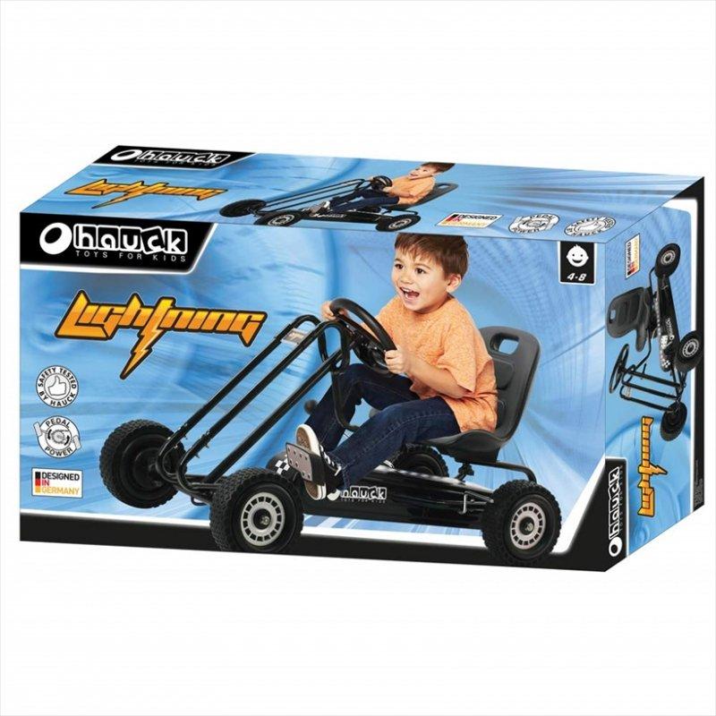【即納】ドイツの名門ハウク・ペダル・ゴーカート<Hauck Lightning Pedal Go Kart> 速走・機敏操作 頑丈フレーム しっかりグリップ  カラー:ブラック【画像4】