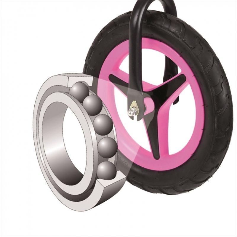 【即納】ドイツの名門ハウク・アル・ライダー<Hauck Alu Rider 12>本格アルミフレーム XLポスト付きで永く乗れる ラバープロファイル・ノーパンクタイヤ カラー:ピンク【画像4】