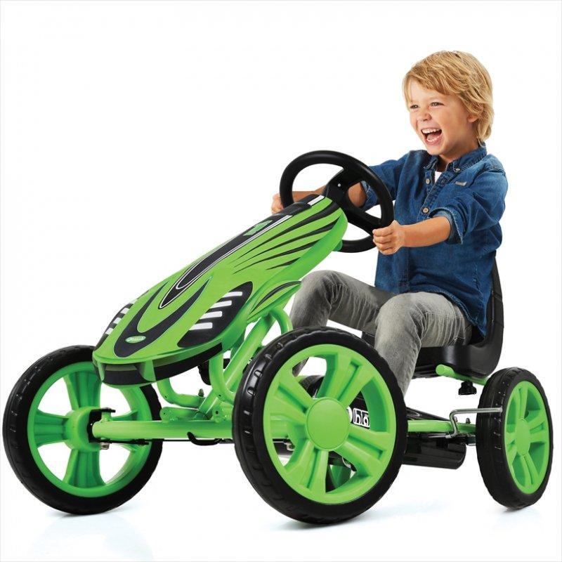 【即納】ドイツの名門ハウク・スピードスター・ゴーカート<Hauck Speedster Pedal Go Kart> 機敏な操作 頑丈なフレーム EVA10インチのグリップ:グリーン【画像2】
