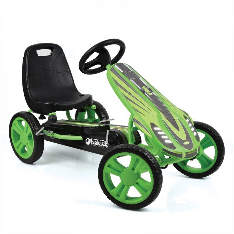 【即納】ドイツの名門ハウク・スピードスター・ゴーカート<Hauck Speedster Pedal Go Kart> 機敏な操作 頑丈なフレーム EVA10インチのグリップ:グリーン【画像4】