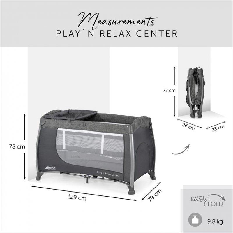 【11月入荷、予約】ハウク・プレイン・リラックスセンター<Hauck Play'n Relax Center>プレイヤード ベビーサークル 折りたたみベビー ベッド 【画像2】
