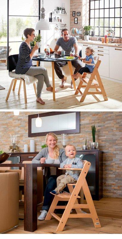 【即納】ドイツの名門ハウク・アルファー・ハイチェアセット<Alpha-Highchair-Set>多機能 ハイチェア ベビーラック ベビーチェア  テーブル付き 色:ナチュラル【画像3】