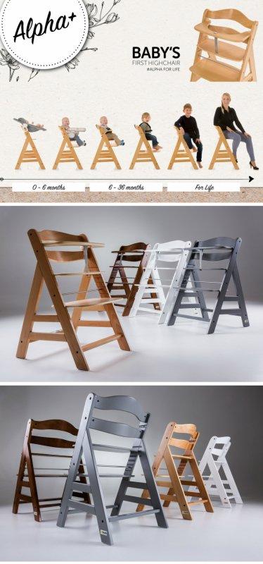 【即納】ドイツの名門ハウク・アルファー・ハイチェアセット<Alpha-Highchair-Set>多機能 ハイチェア ベビーラック ベビーチェア  テーブル付き 色:ナチュラル【画像4】