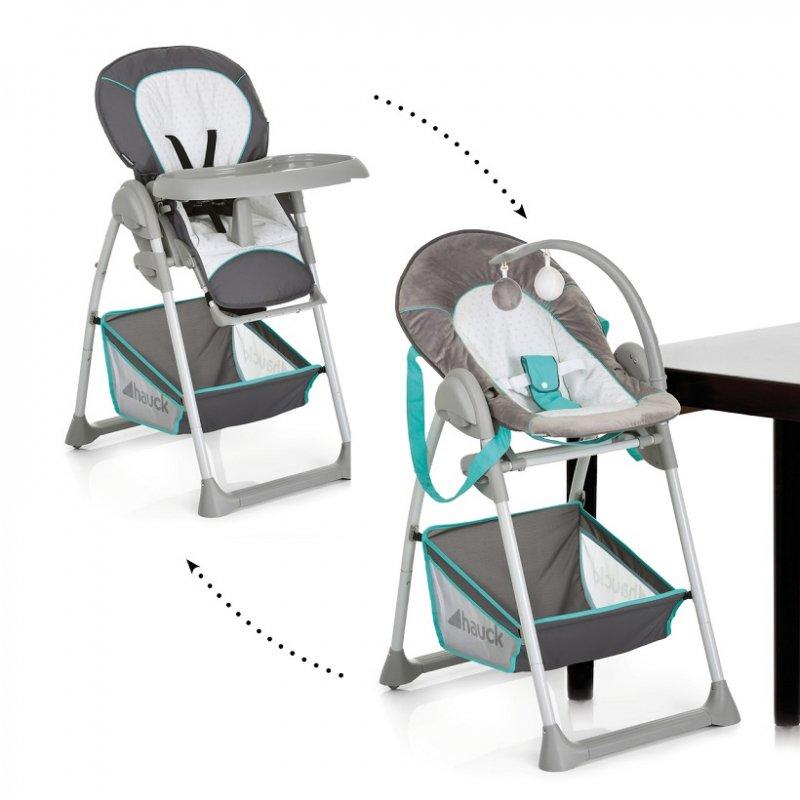 【即納】ドイツの名門ハウク・シッティン・リラックス<HAUCK Sit'n Relax>多機能ハイローチェア 新生児から体重15 kg シート2モード カラー:ハーツ【画像2】