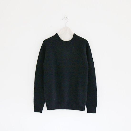 Charpentier de Vaisseau | シェットランドクルーネックニット〈 Karl 〉Black | C003162TK007