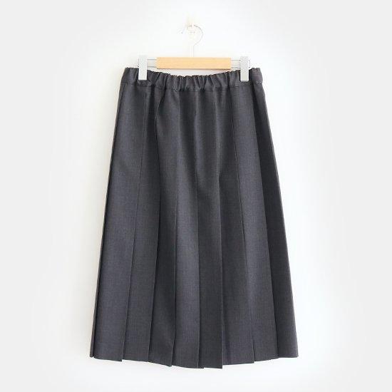 Charpentier de Vaisseau | サマーウールプリーツスカート〈 Belle 〉Grey | C003191PS319