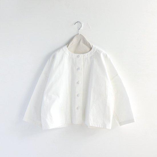 Atelier d'antan | ノーカラージャケット〈 Rohe 〉White | A232172TJ301