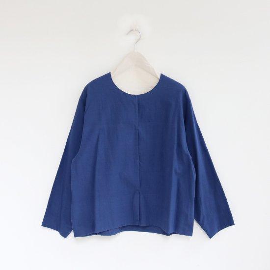 Atelier d'antan | カディスナップボタンシャツ〈 Quellier 〉Navy | A232181TS310