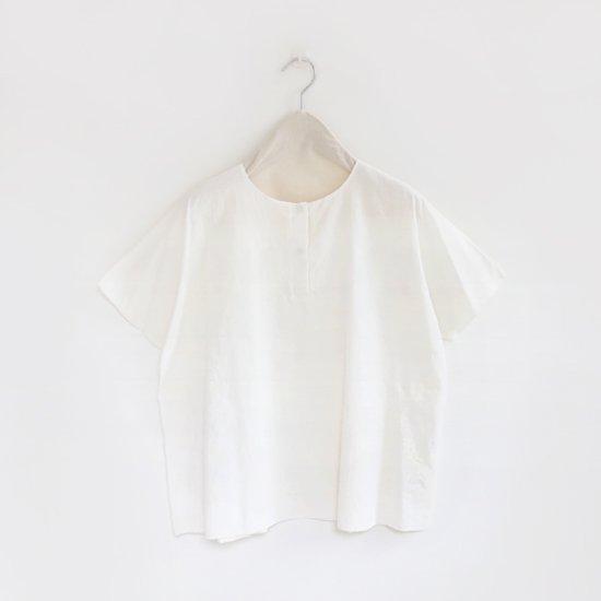 Atelier d'antan | カディフライフロントシャツ〈 Schiele 〉White | A232181TS308