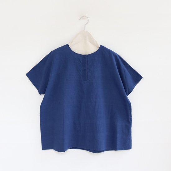 Atelier d'antan | カディフライフロントシャツ〈 Schiele 〉Navy | A232181TS308