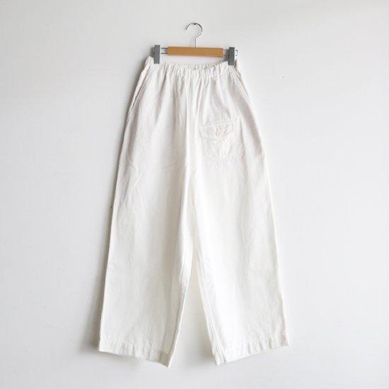 ゴーシュ | カツラギワイドパンツ White | F019211PP442