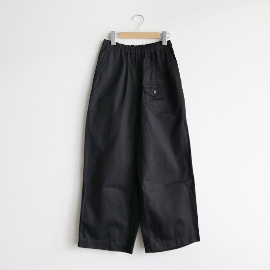 ゴーシュ | カツラギワイドパンツ Black | F019211PP442