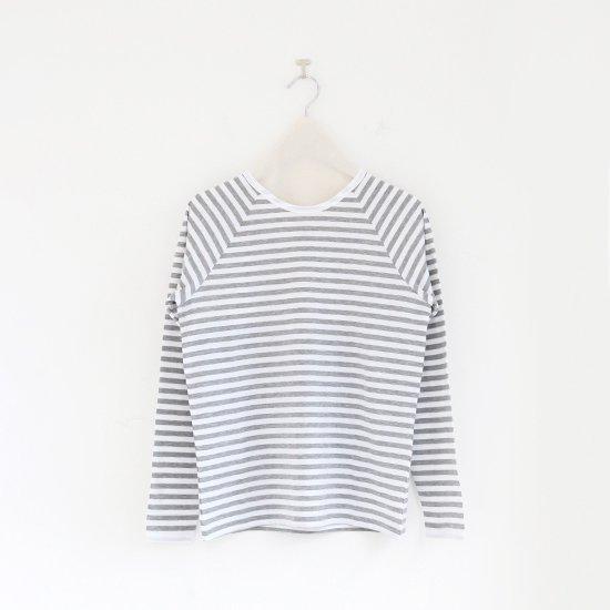 Charpentier de Vaisseau | ラグランスリーブカットソー〈 Jerry8 〉White × Grey | C003191TT333