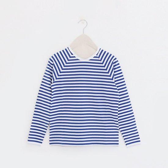 Charpentier de Vaisseau | ラグランスリーブカットソー〈 Jerry8 〉White × Blue | C003191TT333