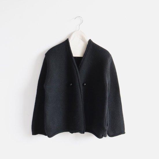 Atelier d'antan | アシンメトリーニットジャケット〈 Degas 〉Black | A232182TK347