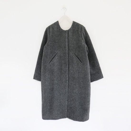 Atelier d'antan | ウールアルパカノーカラーコート〈 Seurat 〉Grey | A232142TC153