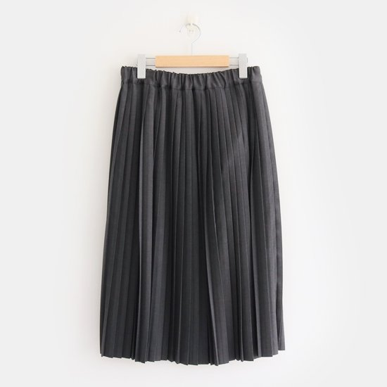 Charpentier de Vaisseau | サマーウールナロープリーツスカート〈 Brenda 〉Grey | C003191PS320