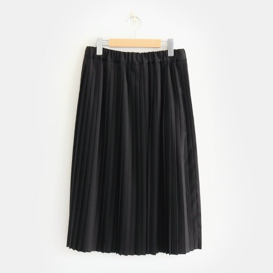 Charpentier de Vaisseau | サマーウールナロープリーツスカート〈 Brenda 〉Black | C003191PS320