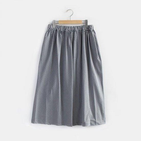 Charpentier de Vaisseau | ギャザースカート〈 Belinda 〉White × Black Check | C003191PS307