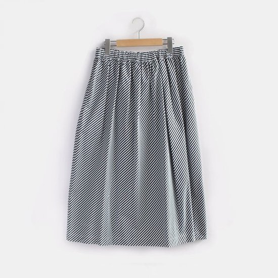 Charpentier de Vaisseau   ギャザースカート〈 Belinda 〉Black Stripe   C003191PS307