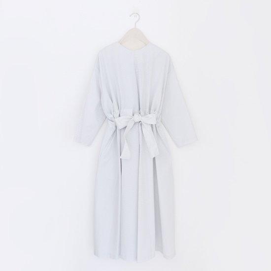 Atelier d'antan | リボンワンピース〈 Jodelle 〉White × Grey Check | A232191TD355
