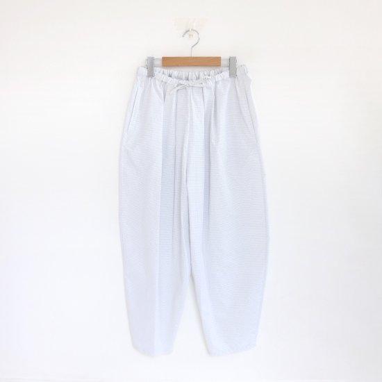 Atelier d'antan | ワイドパンツ〈 Bol 〉White × Grey Check | A232191PP353
