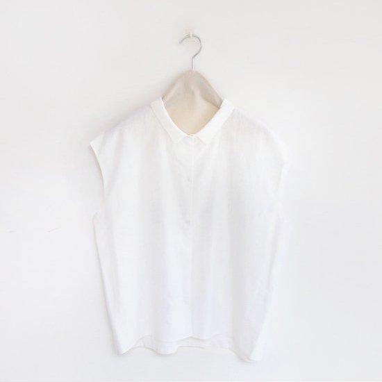 Atelier d'antan | カディスリーブレスシャツ〈 Stuck 〉White | A232191TS351