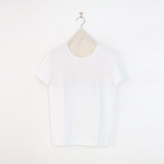 Yuri Park Capo Completo | 15Gクルーネックニット〈 Sheba 〉White | D010201TK240
