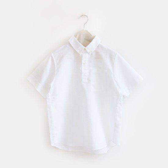 Charpentier de Vaisseau | ボタンダウンショートスリーブシャツ〈 Stewart 〉White | C003191TS297