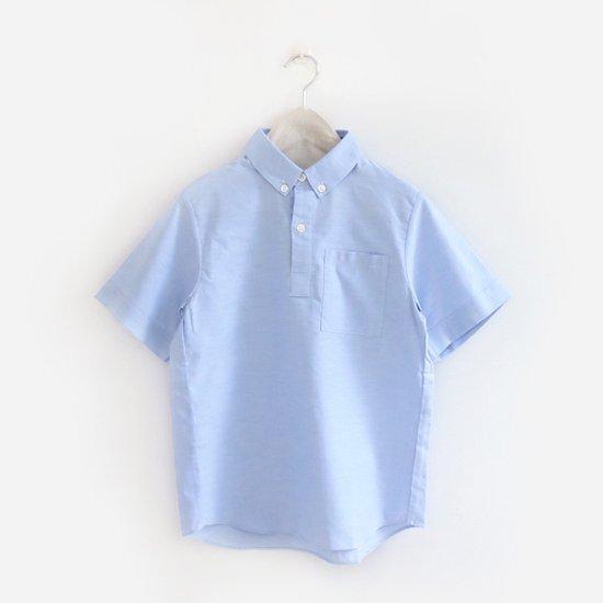 Charpentier de Vaisseau | ボタンダウンショートスリーブシャツ〈 Stewart 〉Light Blue | C003191TS297