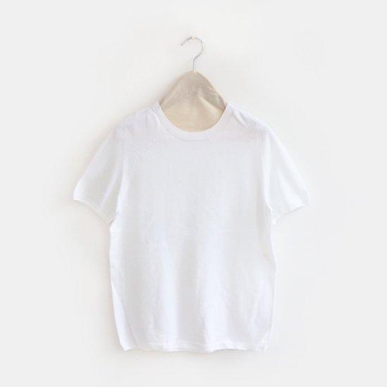 Yuri Park | 15Gクルーネックニット〈 Ailanto 〉White | D010191TK221