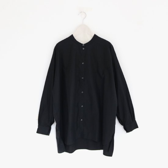 Gallego Desportes | バンドカラーシャツ Black | D001211TS214