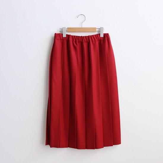 Charpentier de Vaisseau | ウールプリーツスカート〈 Belle 〉Red | C003162PS087