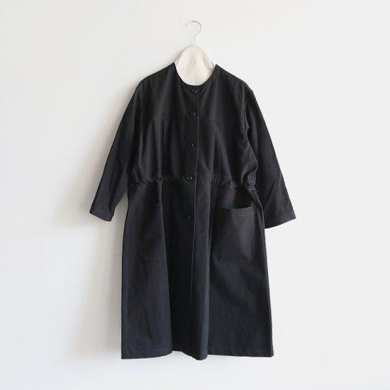 Atelier d'antan  | プリーツコート〈 Leiris 〉Black | A232192TC390